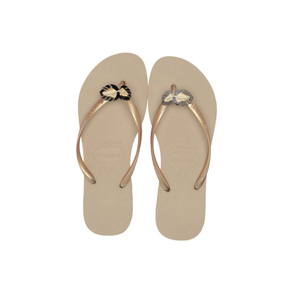 ハワイアナス Havaianas レディース シューズ・靴 ビーチサンダル【Slim Metal Pin Sandal】Sand Grey