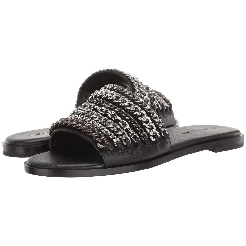 コーチ COACH レディース シューズ・靴 サンダル・ミュール【Hayden Multi Chains Flat Sandal】Black Leather