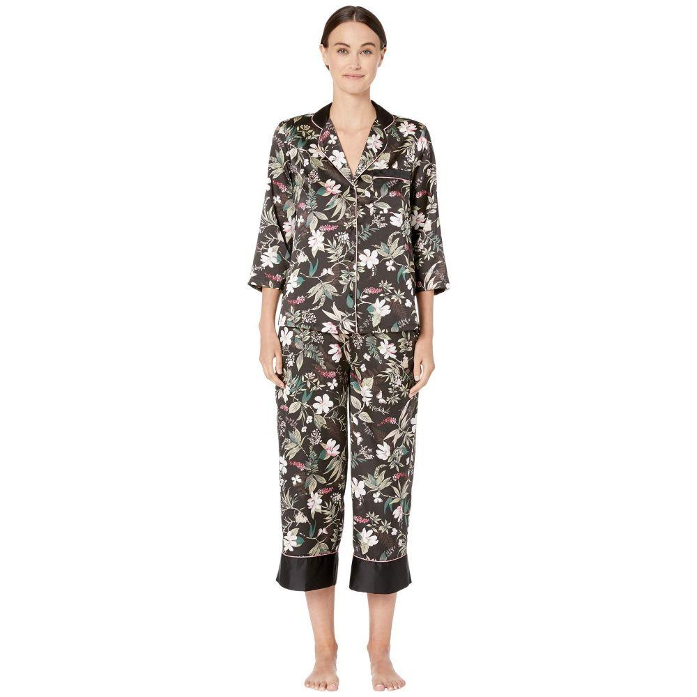 ケイト スペード Kate Spade New York レディース インナー・下着 パジャマ・上下セット【Charmeuse Cropped Pajama Set】Botanical