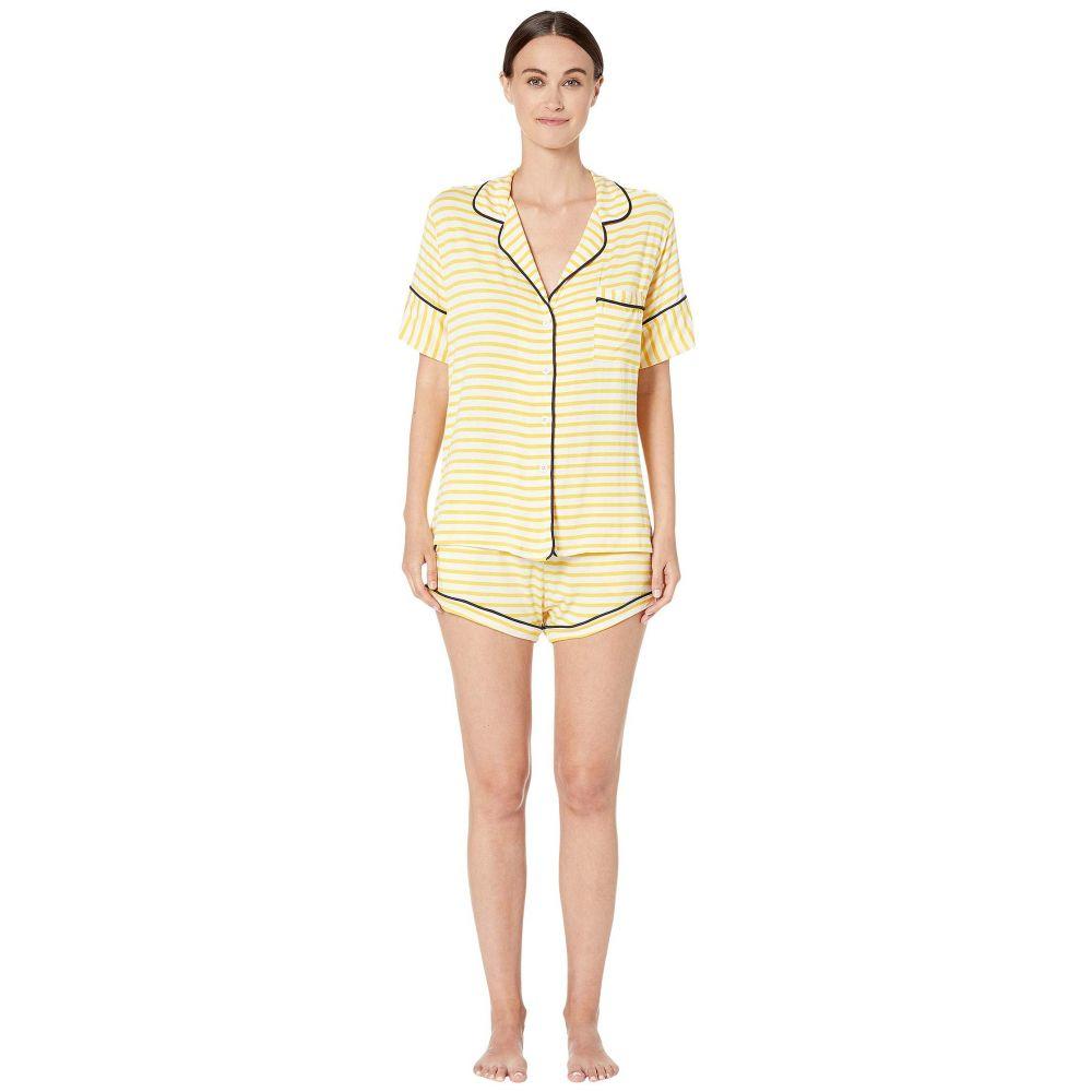 メゾン ド ソワール Maison Du Soir レディース インナー・下着 パジャマ・上下セット【Monaco Short Sleeve Set】Yellow Stripe