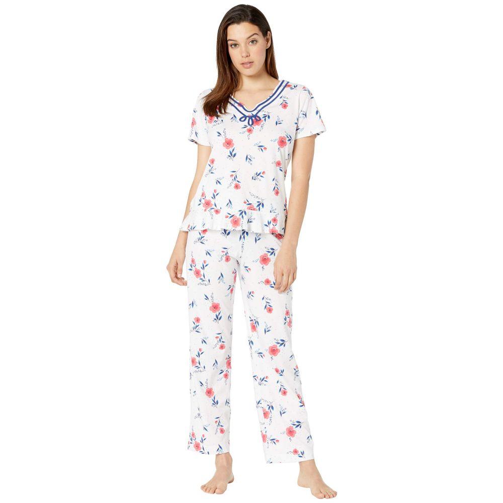 キャロル ホックマン Carole Hochman レディース インナー・下着 パジャマ・上下セット【Short Sleeve Long Pajama Set】Red Floral