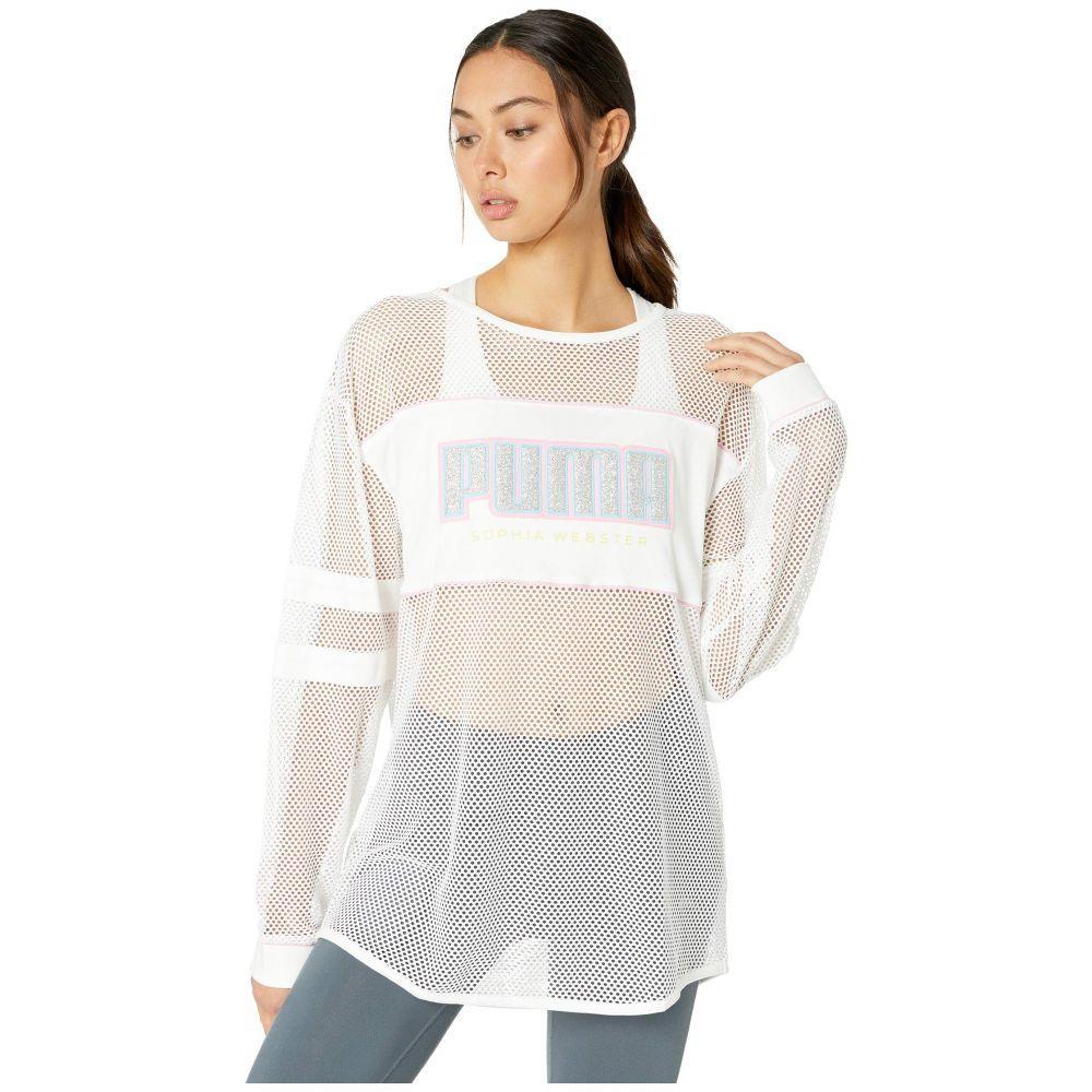プーマ PUMA レディース トップス 長袖Tシャツ【x Sophia Webster Long Sleeve Tee】PUMA White