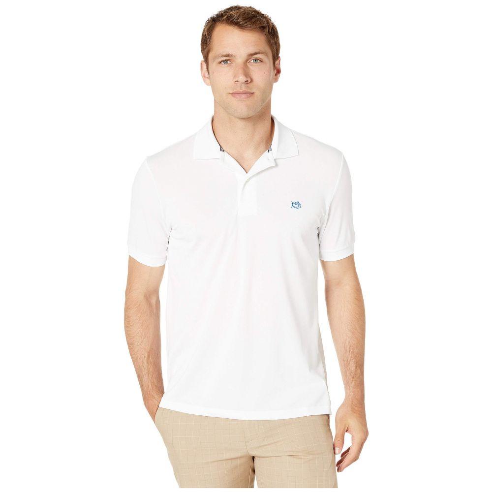 サザンタイド Southern Tide メンズ トップス ポロシャツ【Jack Performance Pique Polo Shirt】Classic White