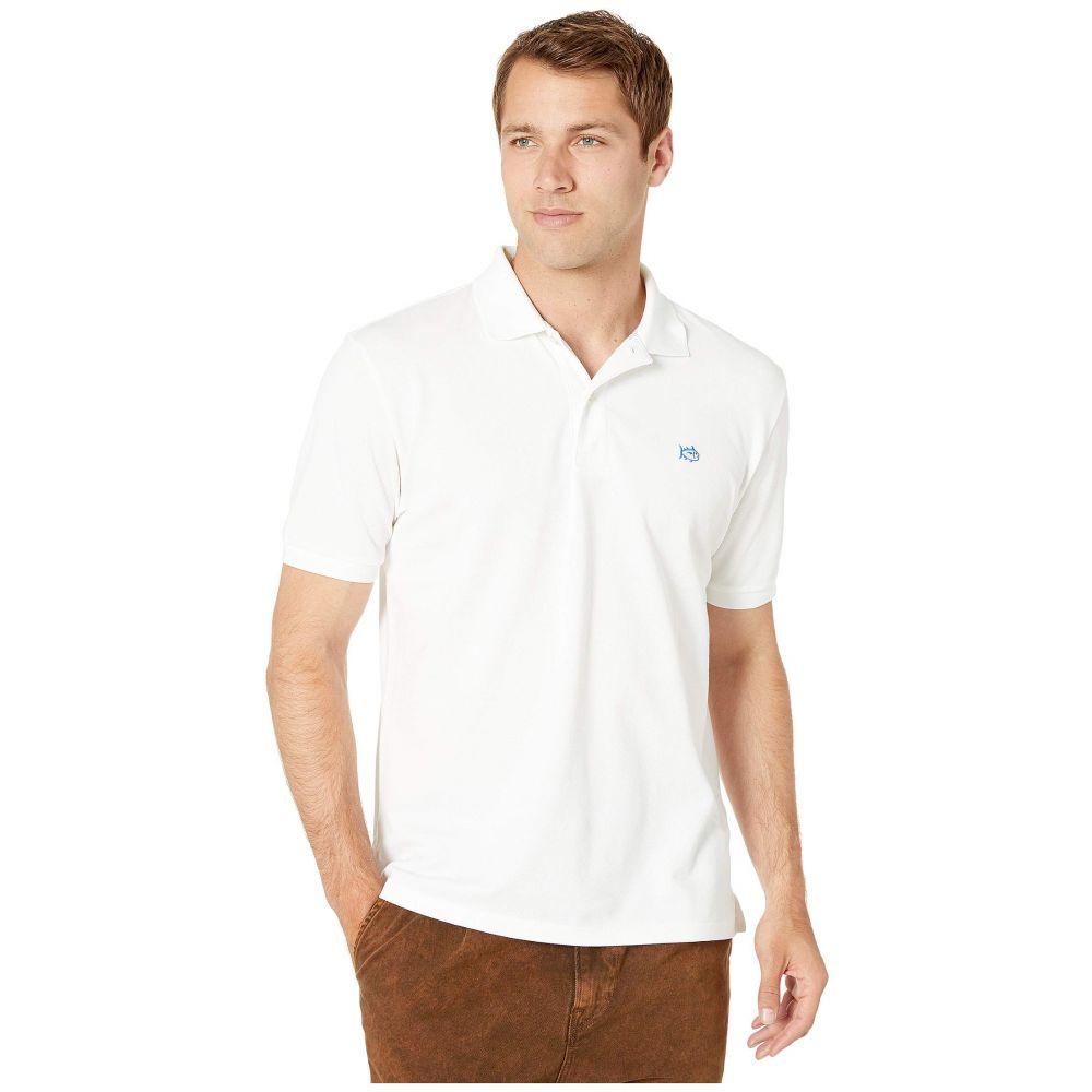 サザンタイド Southern Tide メンズ トップス ポロシャツ【Short Sleeve Skipjack Polo Shirt】Classic White