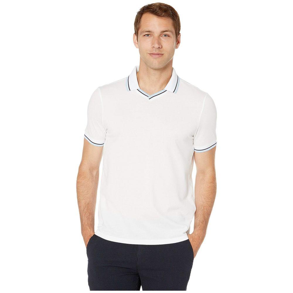 ペリー エリス Perry Ellis Portfolio メンズ トップス ポロシャツ【Pique Open Collar Polo Shirt】Bright White