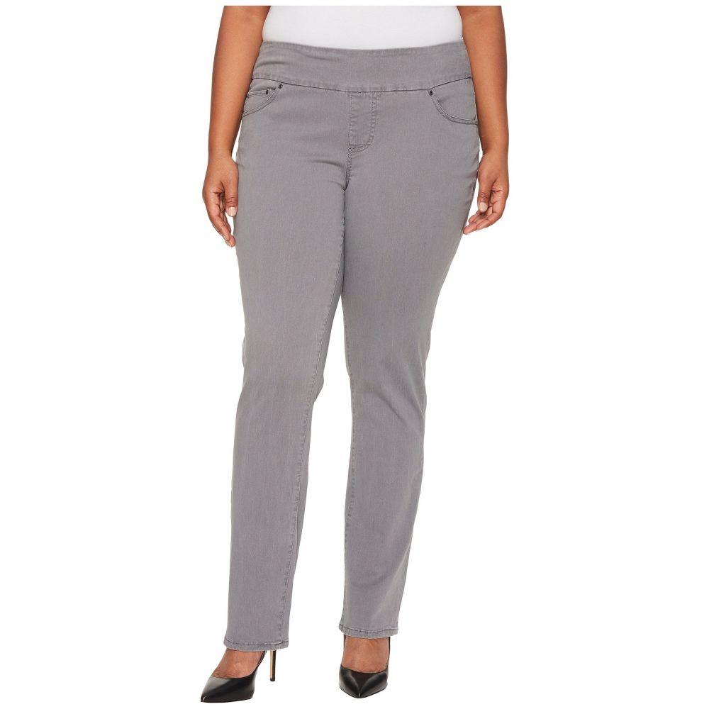 ジャグ ジーンズ Jag Jeans Plus Size レディース ボトムス・パンツ【Plus Size Peri Pull-On Straight Leg Pants in Bay Twill】Grey Streak
