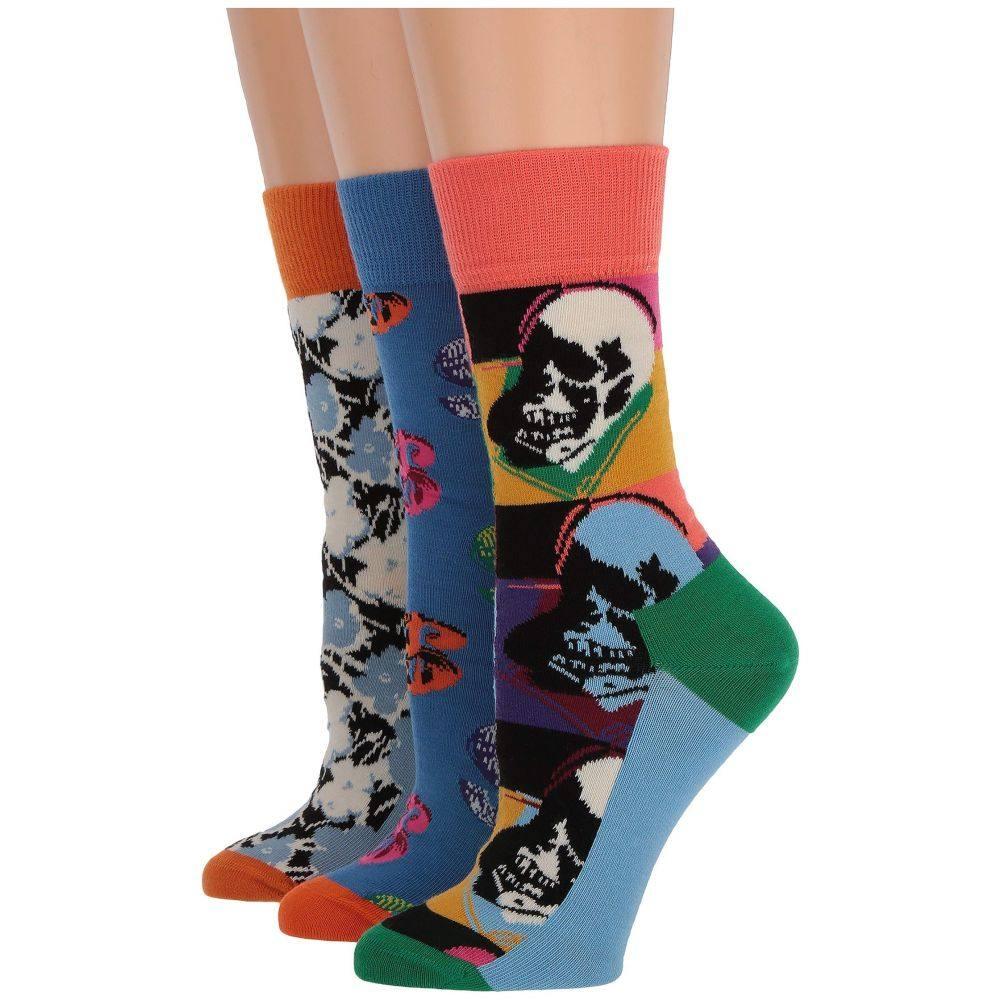 リアル ハッピーソックス Happy Socks レディース インナー・下着 ソックス【Andy Warhol Skull Gift Box】Multi, 美容 健康 便利グッズのリピタウン 1597064e