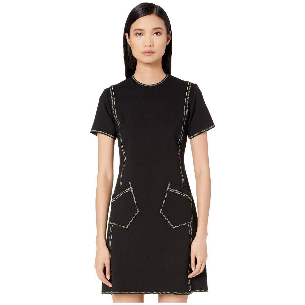 マックイーン McQ レディース ワンピース・ドレス ワンピース【Contrast Line Dress】Darkest Black