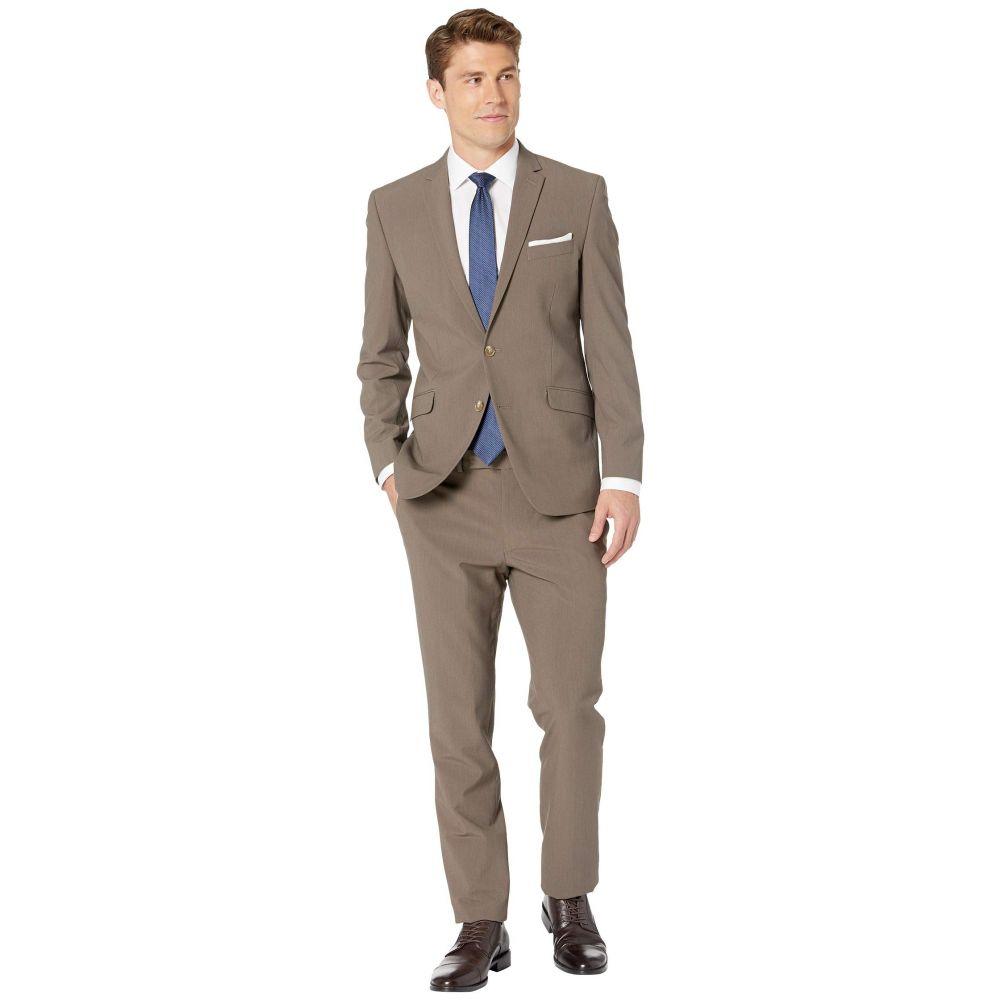 ケネス コール Kenneth Cole Reaction メンズ アウター スーツ・ジャケット【Solid Slim Fit Stretch Performance Suit】Brown