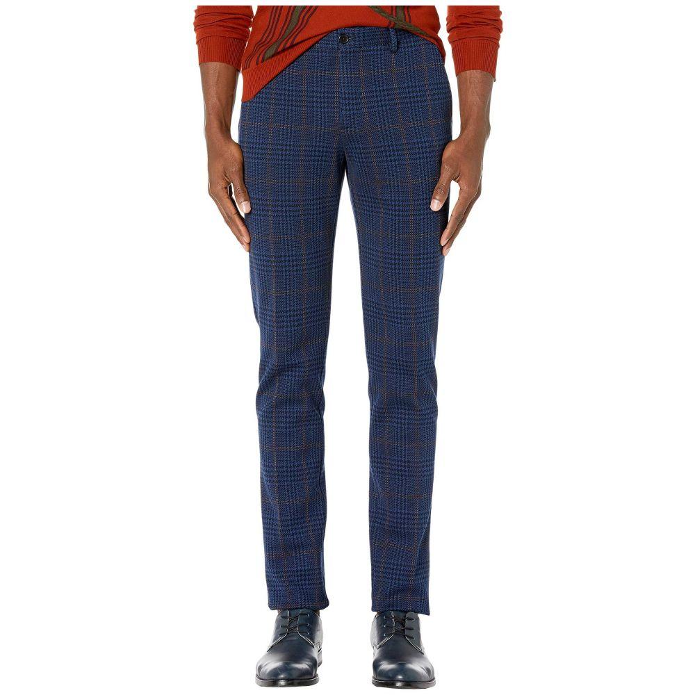 エトロ Etro メンズ ボトムス・パンツ【Flat Front Jersey Plaid Pants】Navy