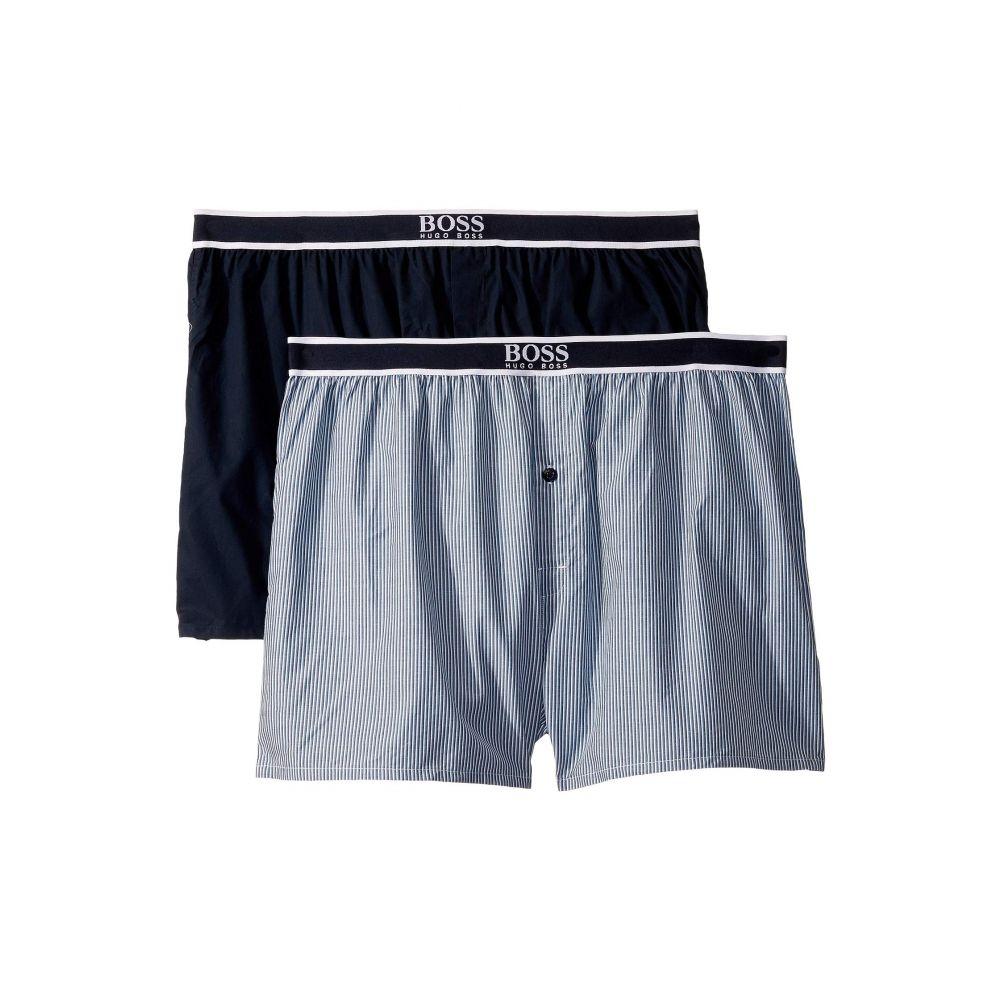 ヒューゴ ボス BOSS Hugo Boss メンズ インナー・下着 ボクサーパンツ【2-Pack Woven Boxer Shorts】Blue
