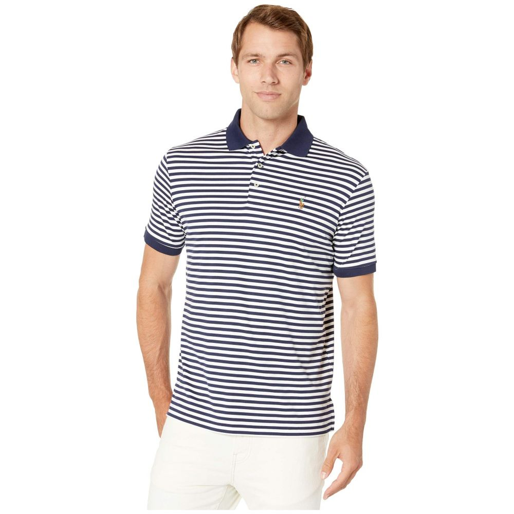 ラルフ ローレン Polo Ralph Lauren メンズ トップス ポロシャツ【Soft Touch Pima Polo Short Sleeve Classic Fit】French Navy/White