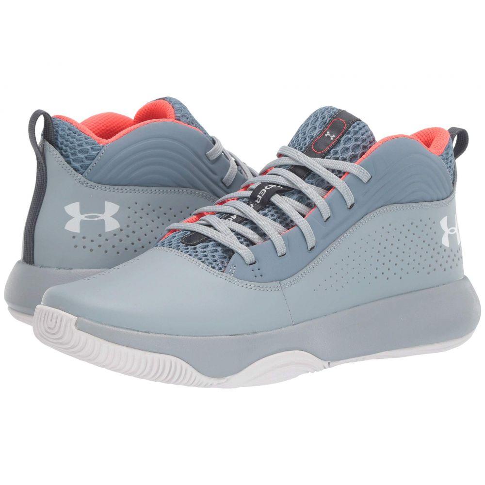 アンダーアーマー Under Armour メンズ バスケットボール シューズ・靴【Lockdown 4】Ash Gray/Harbor Blue/Onyx White