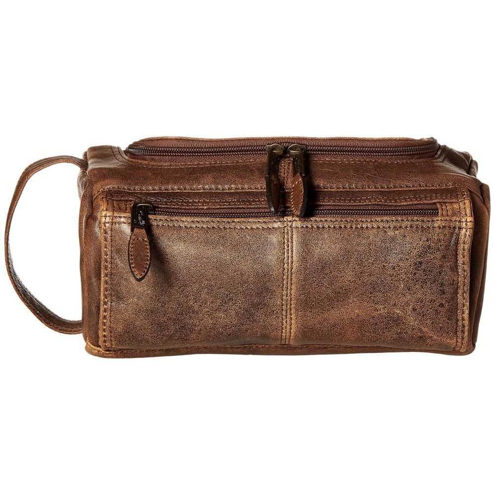 スカーリー Scully メンズ ポーチ【Squadron Shave Kit】Antique Brown