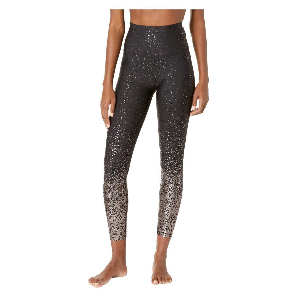 ビヨンドヨガ Beyond Yoga レディース インナー・下着 スパッツ・レギンス【Alloy Ombre High-Waisted Midi Leggings】Black Gunmental Speckle