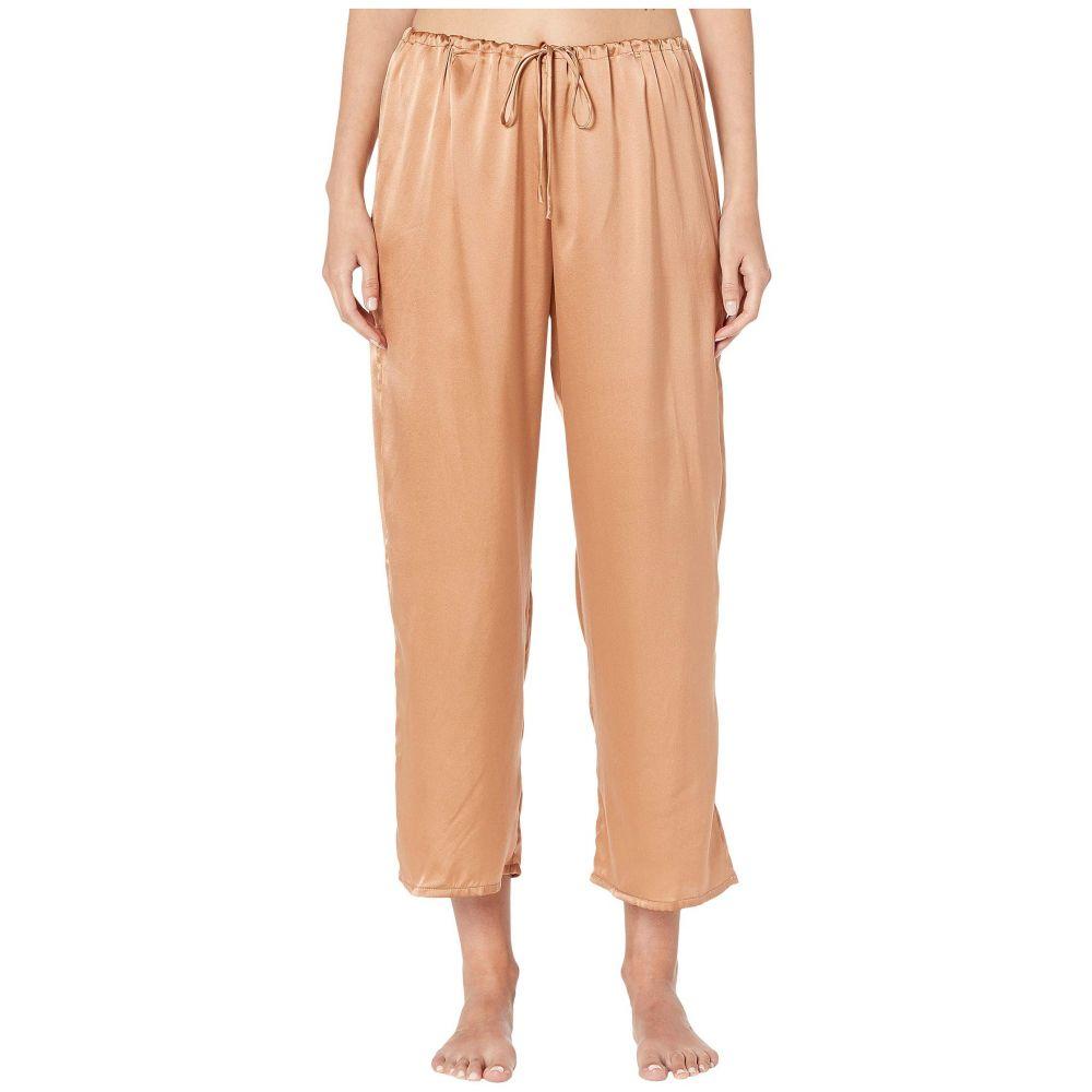 スキン Skin レディース インナー・下着 パジャマ・ボトムのみ【Rosetta Silk Ankle Pants】Cinnamon