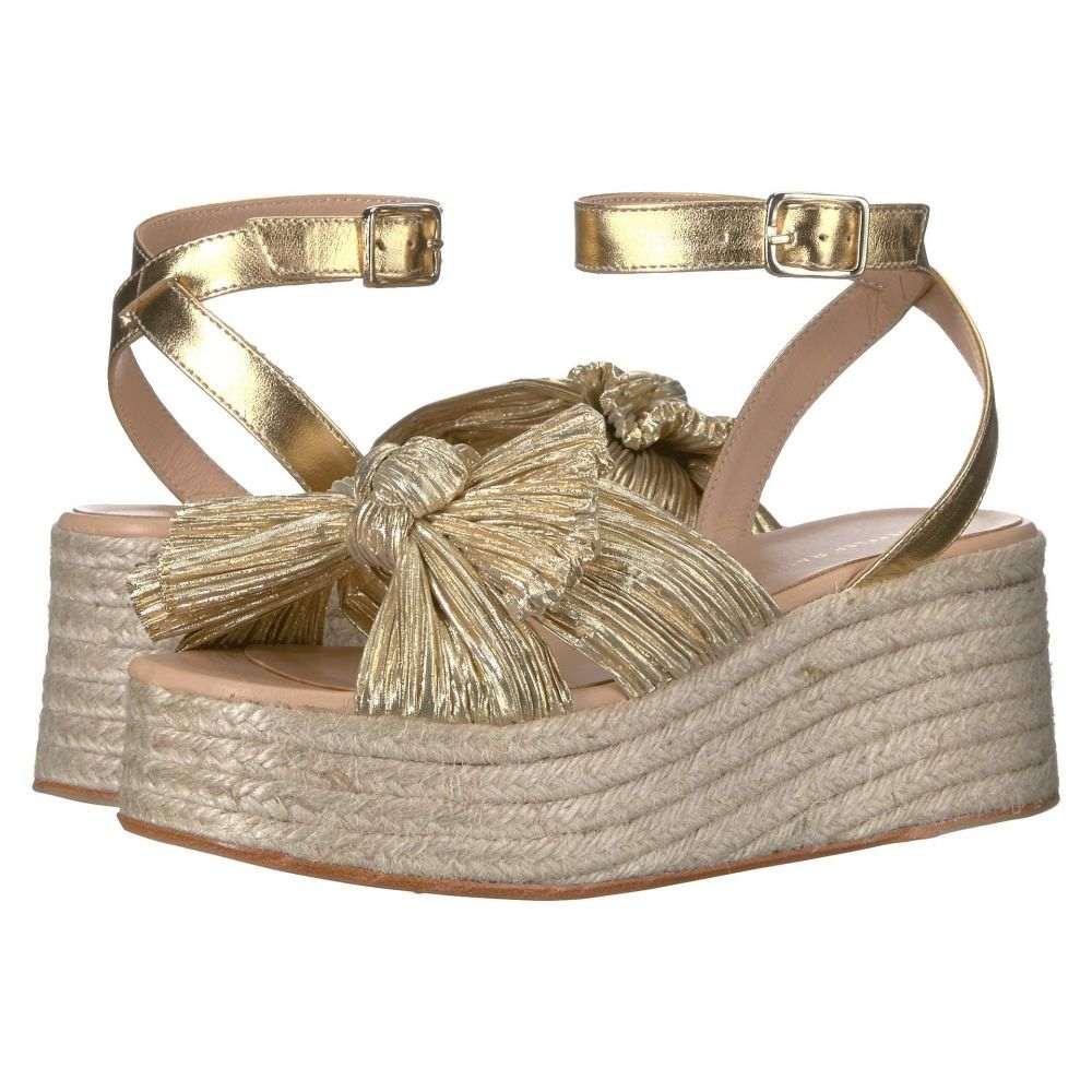 ロフラーランドール Loeffler Randall レディース シューズ・靴 エスパドリーユ【Posey Pleated Knot Flatform Espadrille】Gold