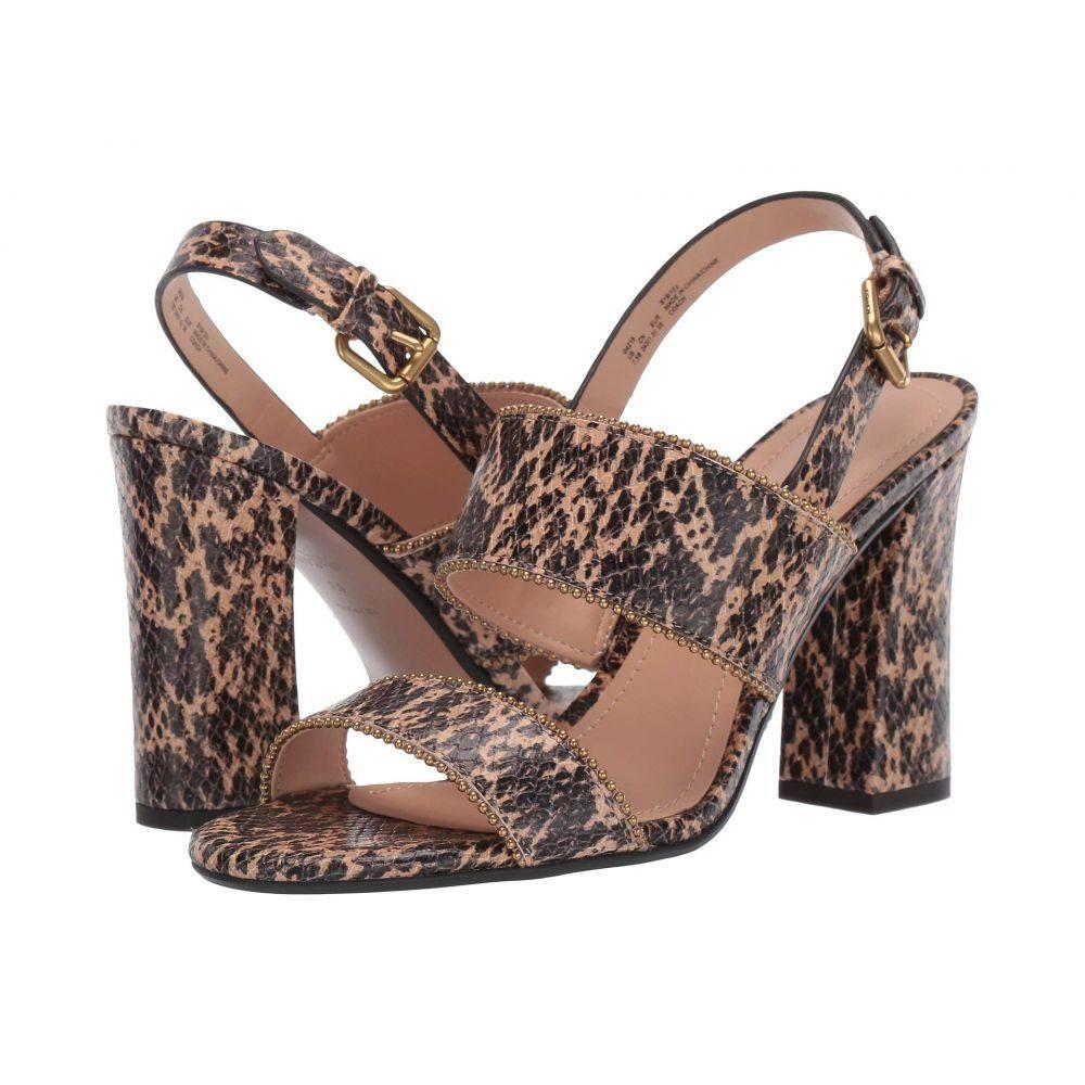 コーチ COACH レディース シューズ・靴 サンダル・ミュール【Rylie Beadchain Heel Sandal】Beechwood Printed Leather
