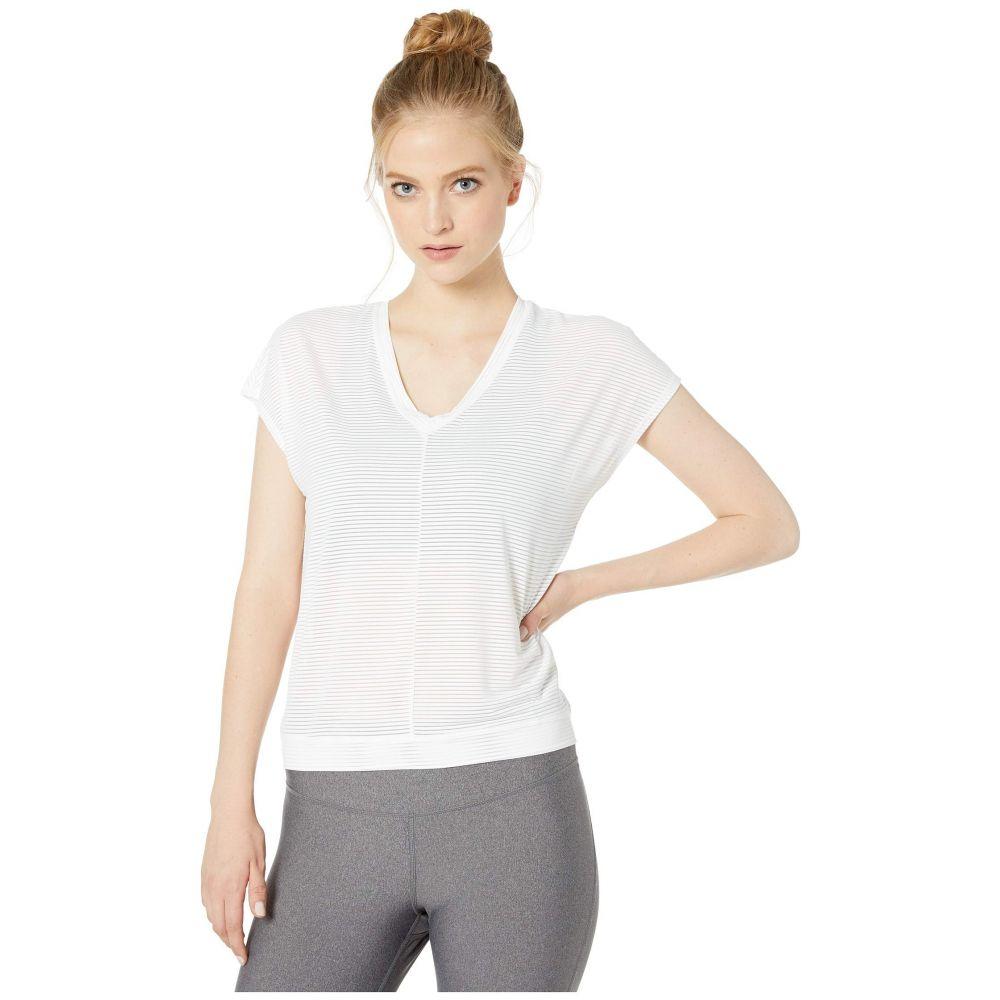 スプレンディッド Splendid レディース トップス Tシャツ【Studio V-Neck Sheer Stripe Top】White