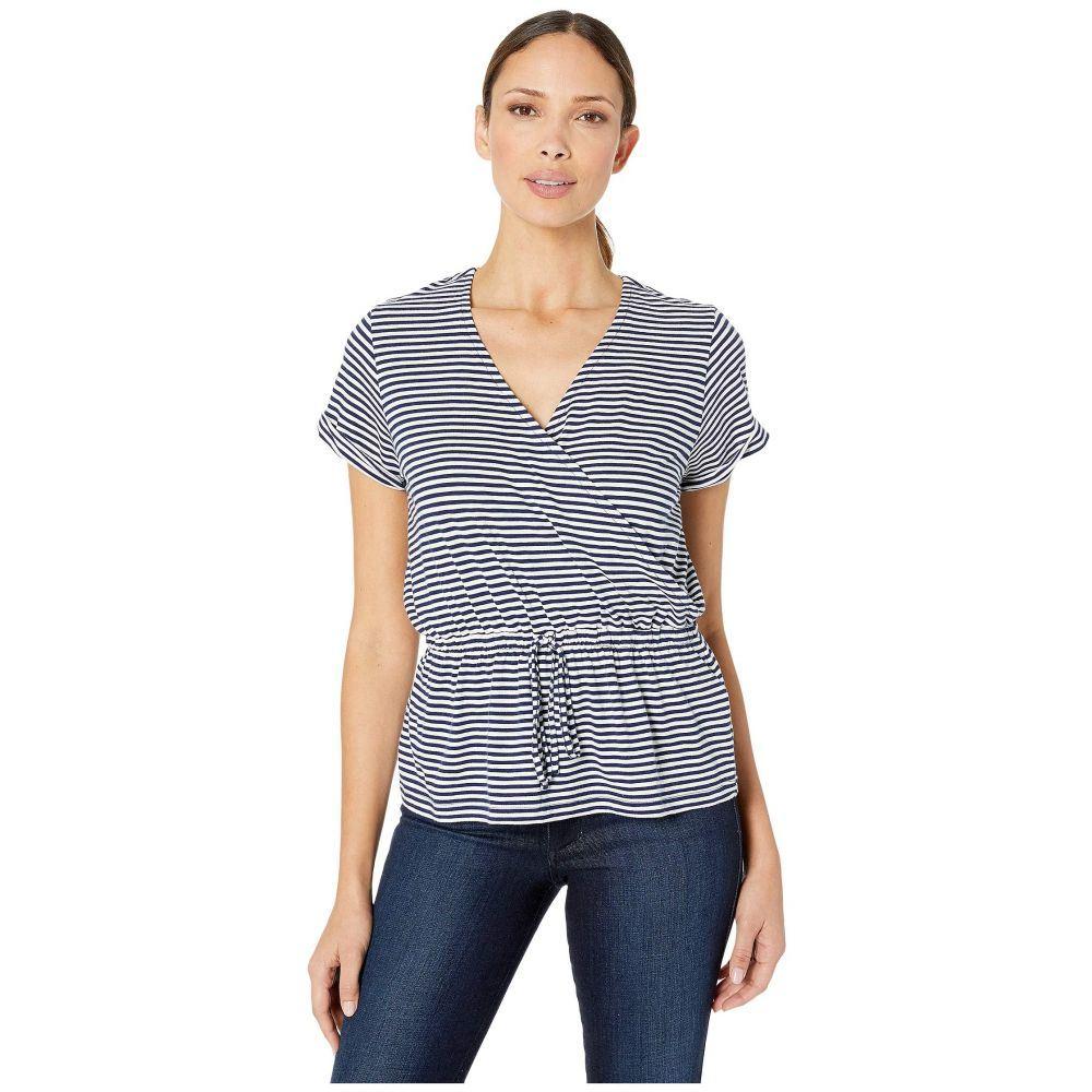 ヴィニヤードヴァインズ Vineyard Vines レディース トップス Tシャツ【Striped Wrap Knit Top】Deep Bay