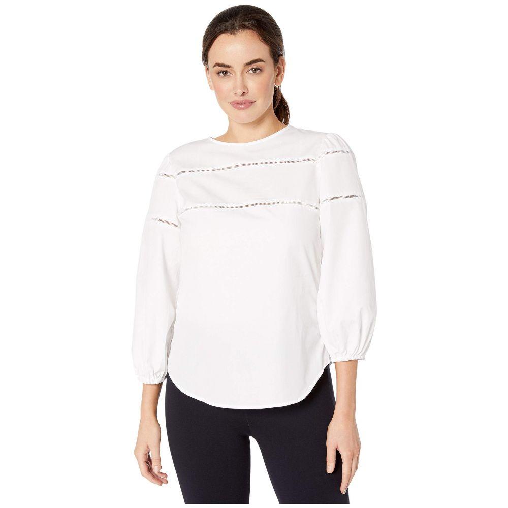 ラルフ ローレン LAUREN Ralph Lauren レディース トップス ブラウス・シャツ【Ladder-Trim Cotton Shirt】White