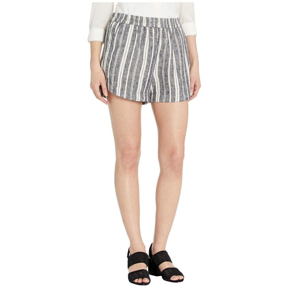 スプレンディッド Splendid レディース ボトムス・パンツ ショートパンツ【Striped Pier Shorts】Navy/Off-White