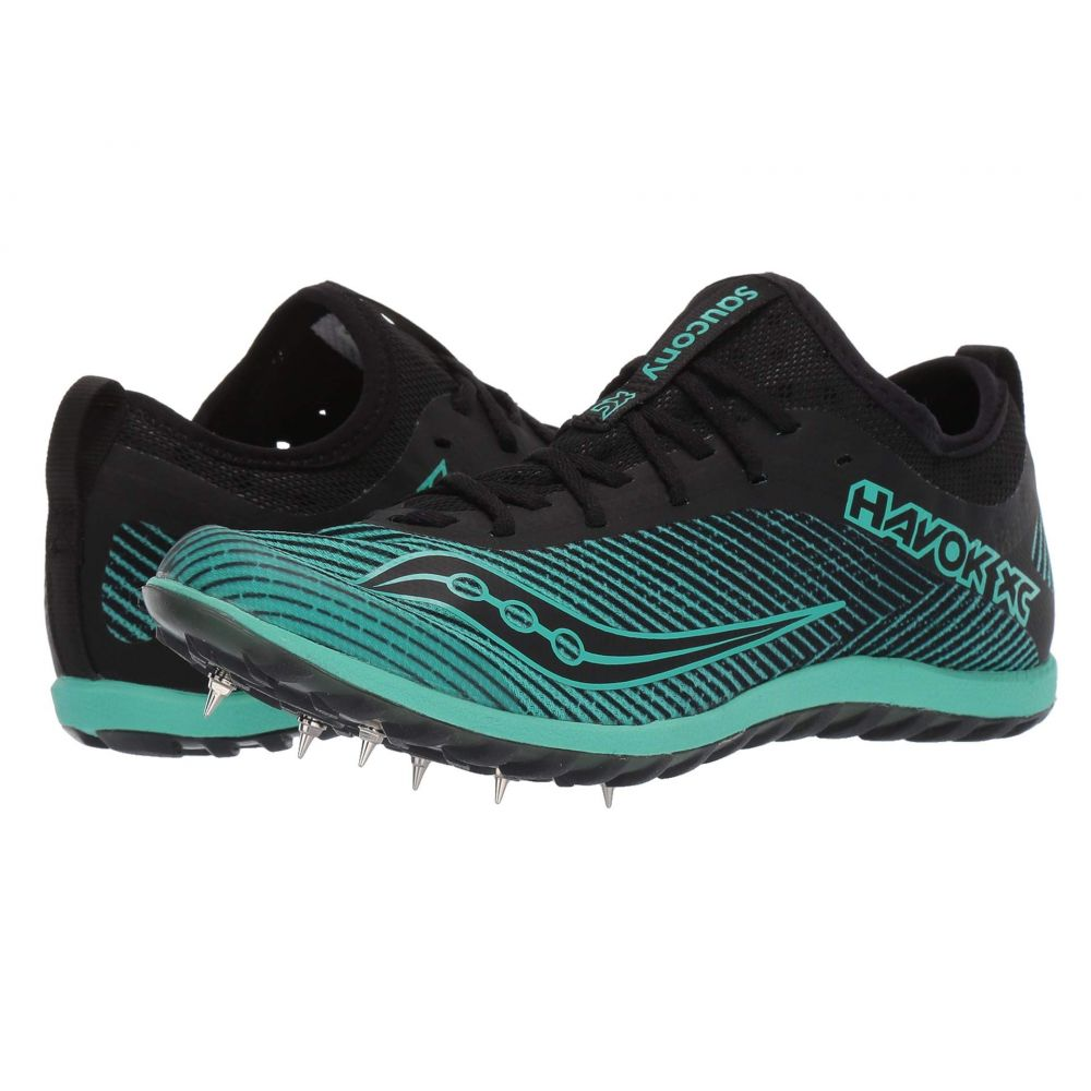 サッカニー Saucony レディース ランニング・ウォーキング シューズ・靴【Havok XC2】Black/Green