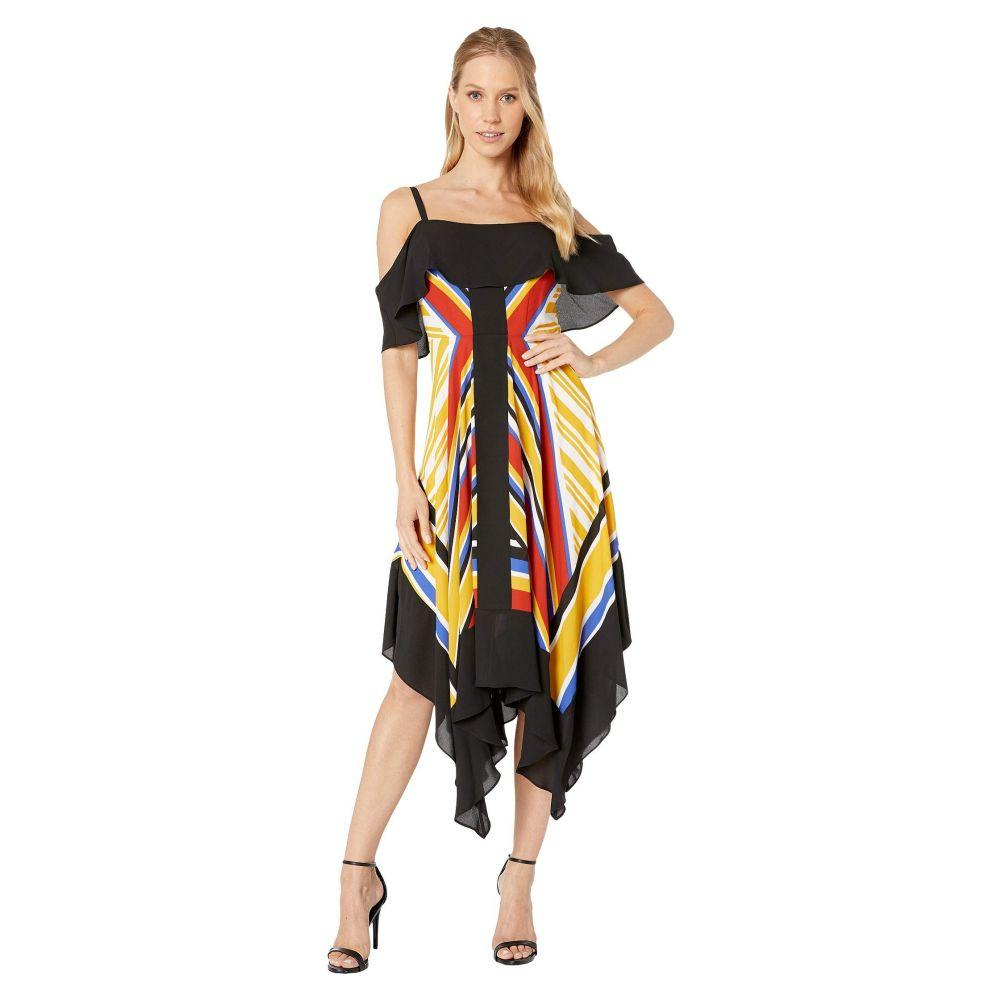 ビーシービージーマックスアズリア BCBGMAXAZRIA レディース ワンピース・ドレス ワンピース【Off the Shoulder Printed Asymmetrical Hem Dress】Multi/Inca Scarf 2