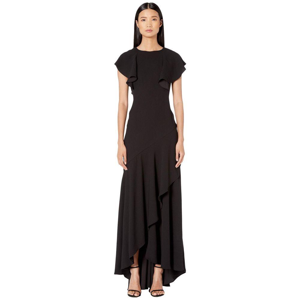 モニーク ルイリエ ML Monique Lhuillier レディース ワンピース・ドレス ワンピース【Satin Black Crepe】Ivory