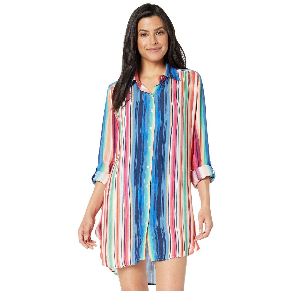 ラブランカ La Blanca レディース 水着・ビーチウェア ビーチウェア【Solar Stripe Button Up Shirtdress Cover-Up】Multi