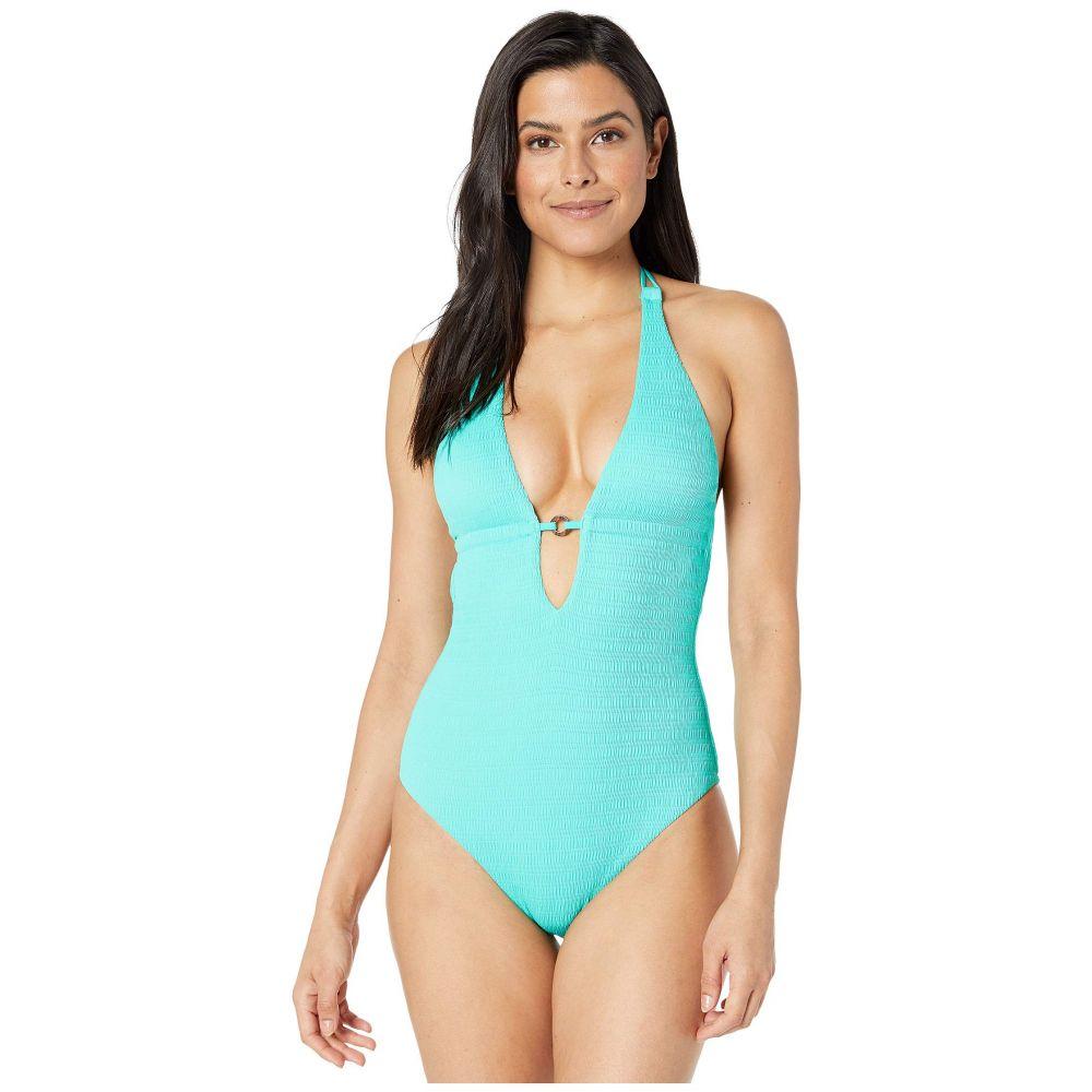 トリーナ ターク Trina Turk レディース 水着・ビーチウェア ワンピース【Cabana Solids V-Plunge One-Piece Swimsuit】Lagoon