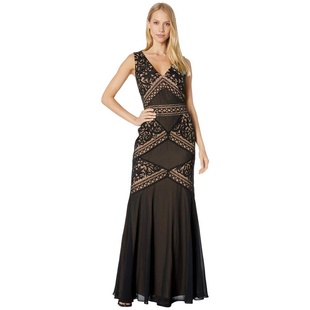 ビーシービージーマックスアズリア BCBGMAXAZRIA レディース ワンピース・ドレス パーティードレス【Embroidered Evening Gown】Black