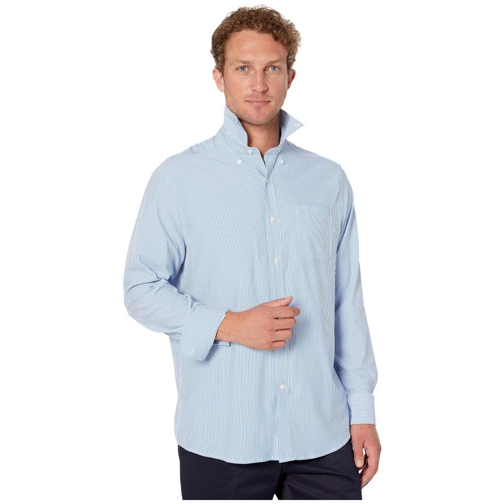 サザンタイド Southern Tide メンズ トップス シャツ【Bengal Stripe Intercoastal Performance Sport Shirt】Cobalt Blue