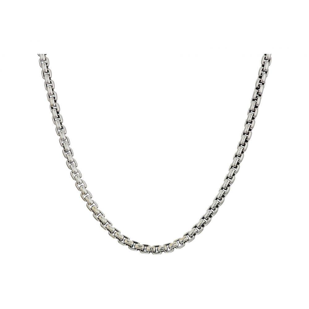 ジョン ハーディー John Hardy メンズ ジュエリー・アクセサリー ネックレス【2.6mm Box Chain Necklace Size 24】Silver