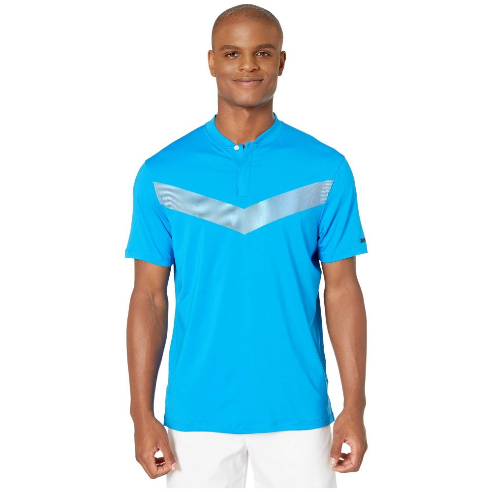 ナイキ Nike Golf メンズ トップス ポロシャツ【TW Dry Vapor Reflective Polo】Photo Blue/Black