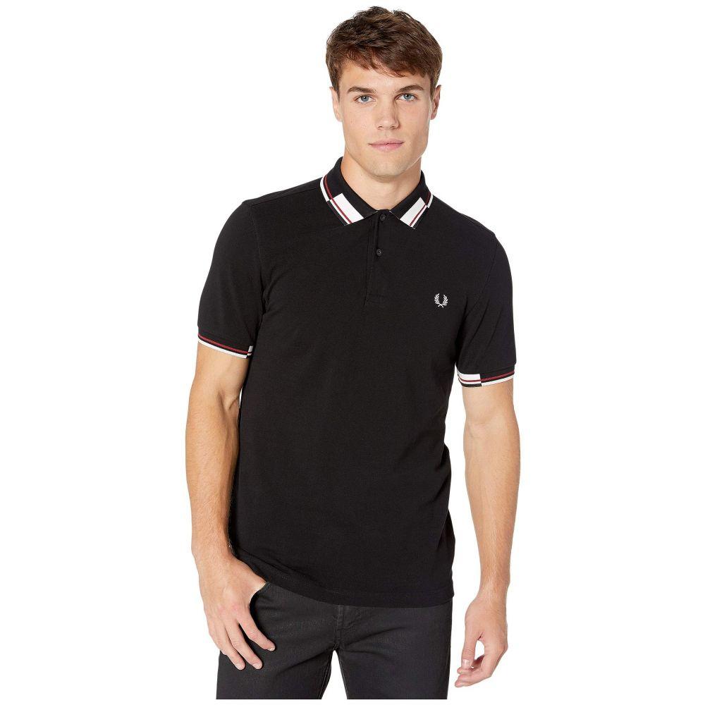 フレッドペリー Fred Perry メンズ トップス ポロシャツ【Abstract Collar Pique Shirt】Black