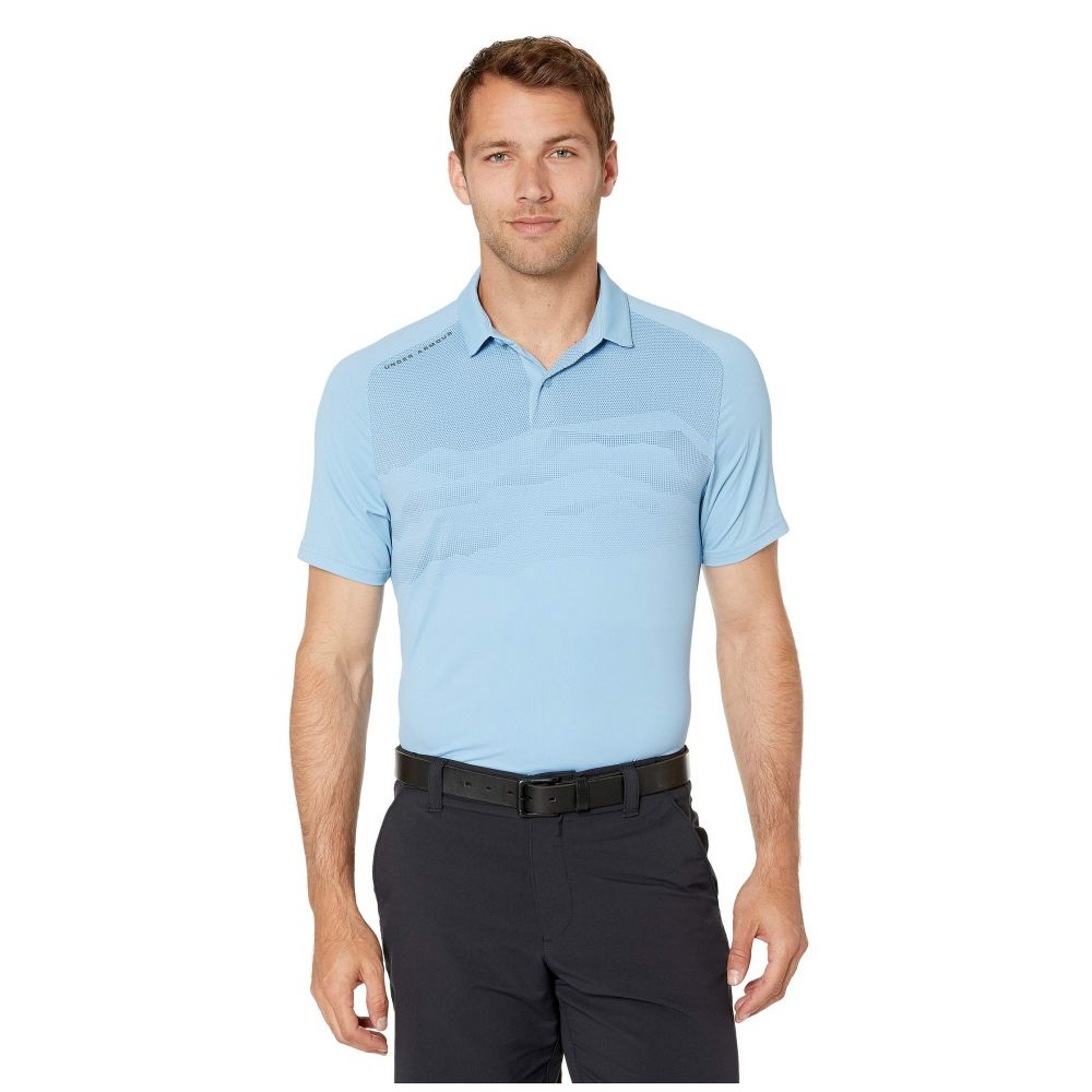 アンダーアーマー Under Armour Golf メンズ トップス ポロシャツ【Iso-Chill Airlift Polo】Boho Blue/Pitch Gray