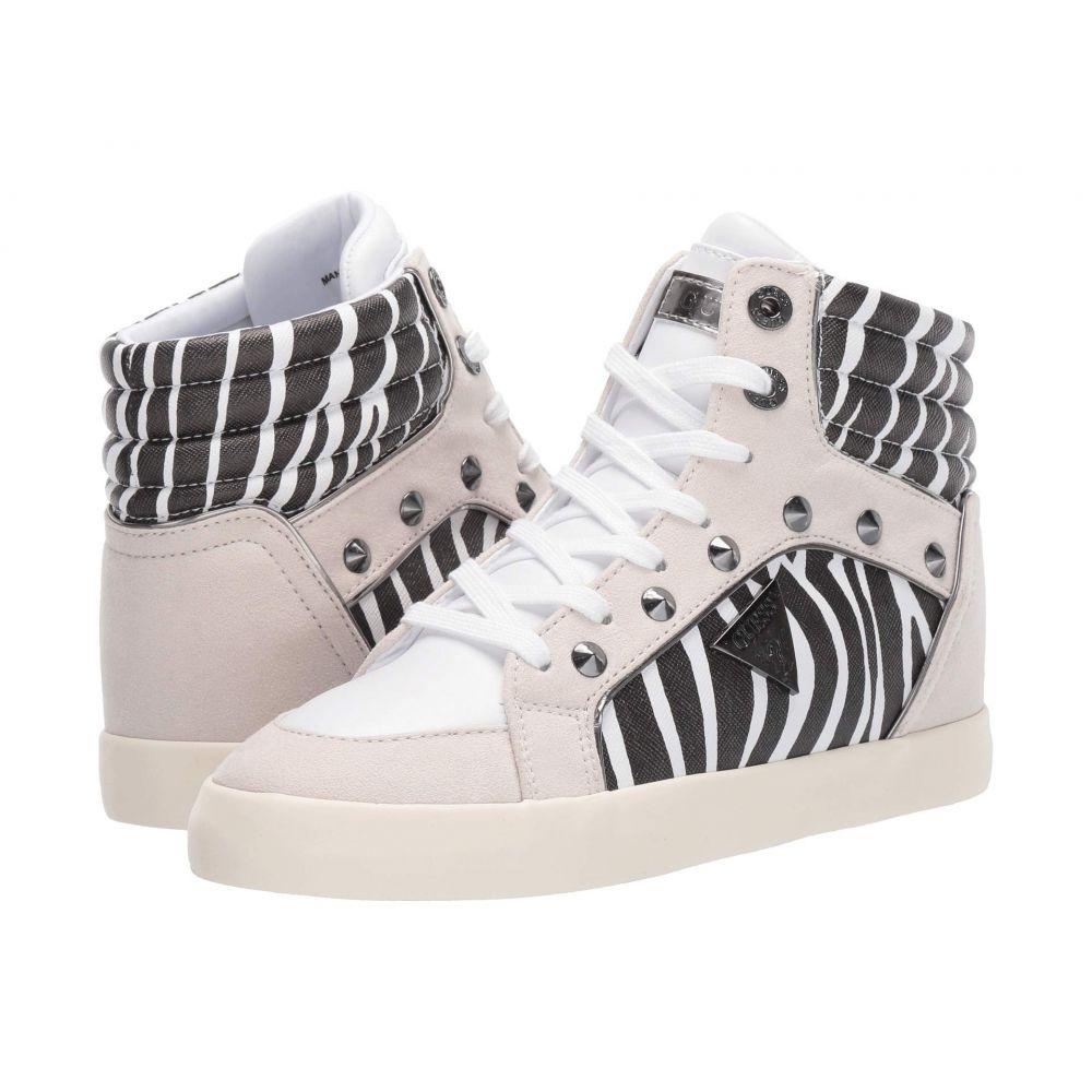 ゲス GUESS レディース シューズ・靴 スニーカー【Porcia】White/Black