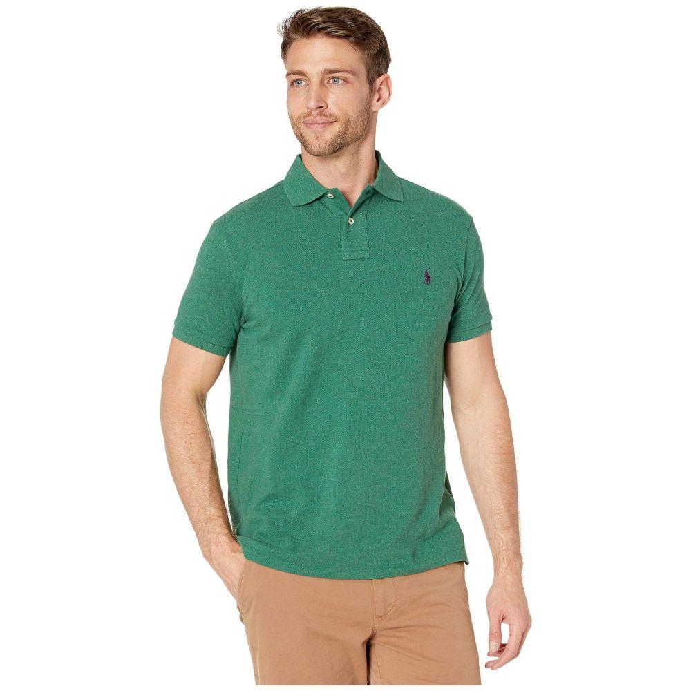 ラルフ ローレン Polo Ralph Lauren メンズ トップス ポロシャツ【Basic Mesh Short Sleeve Slim Fit Knit】Green Heather