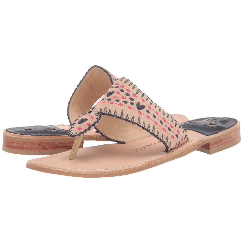 ジャックロジャース Jack Rogers レディース シューズ・靴 ビーチサンダル【Jacks Crochet Flat Sandal】Sand