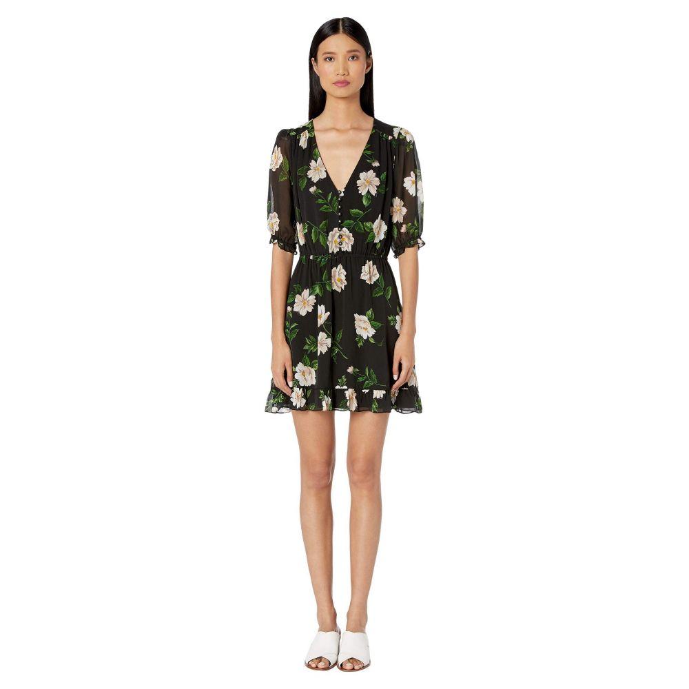 クーパース The Kooples レディース ワンピース・ドレス ワンピース【Floral Print Short Dress】Black/Ecru