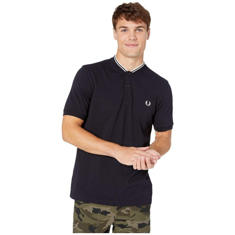 フレッドペリー Fred Perry メンズ トップス ポロシャツ【Bomber Collar Pique Shirt】Navy