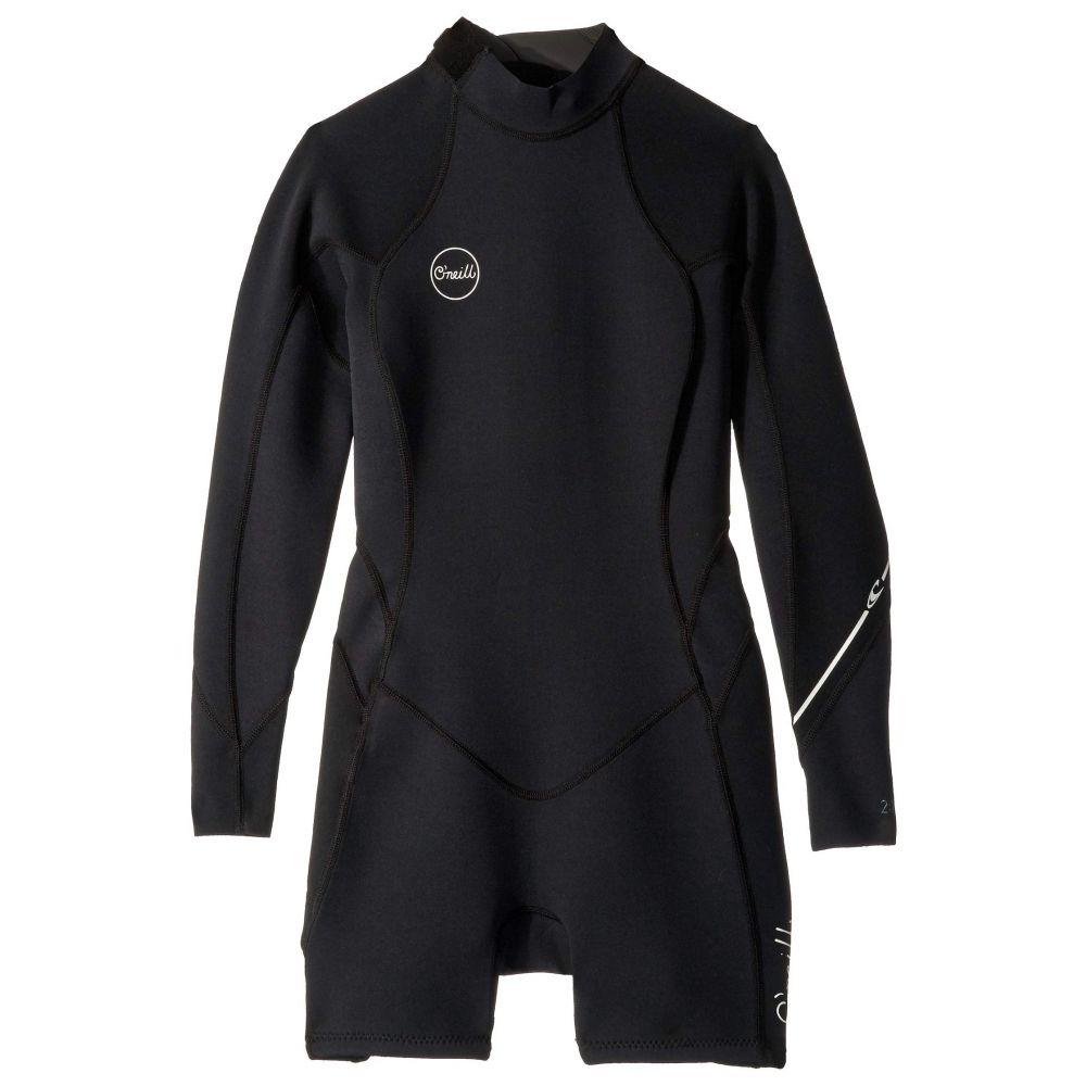 オニール O'Neill レディース 水着・ビーチウェア ウェットスーツ【Bahia 2/1 Back Zip Long Sleeve Spring Suit】Black/Black/Black