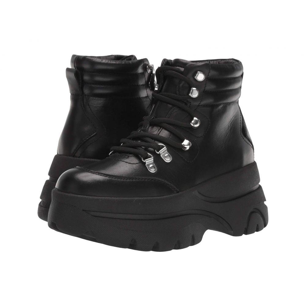スティーブ マデン Steve Madden レディース シューズ・靴 ブーツ【Husky Boot】Black Leather