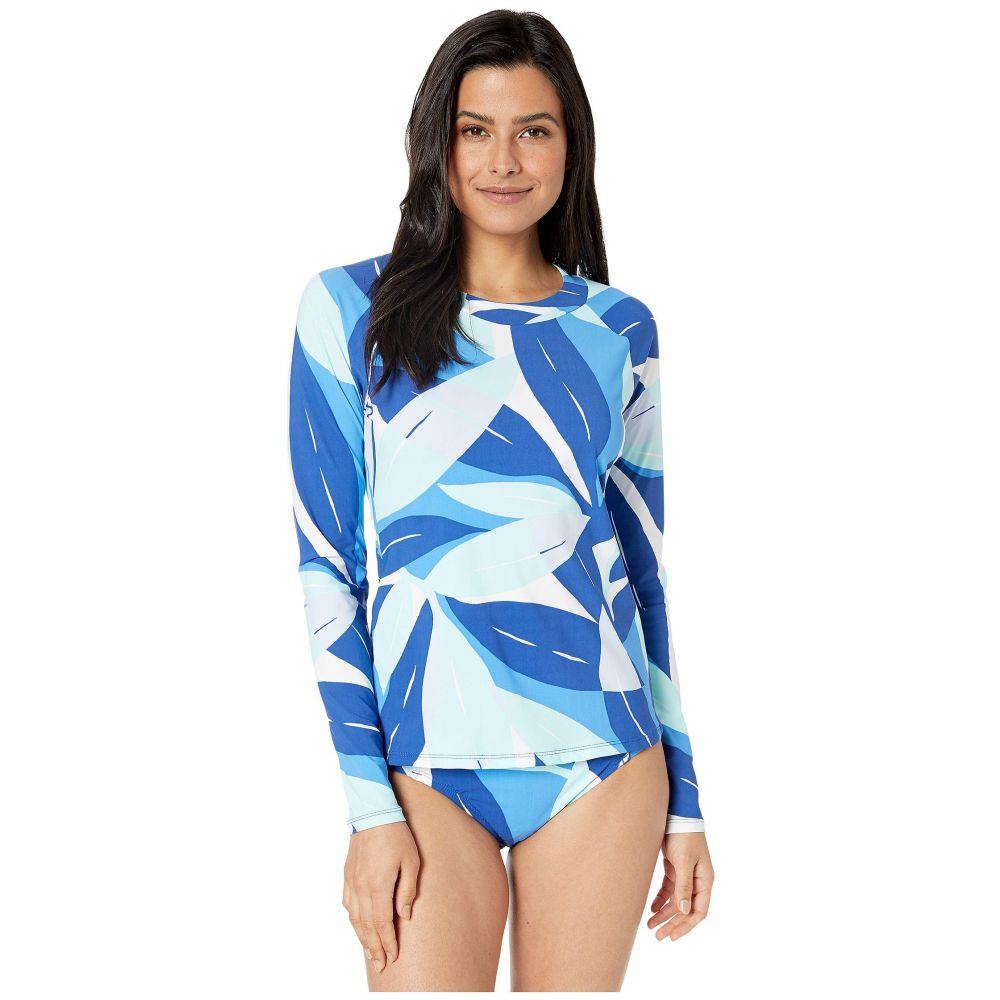 ラブランカ La Blanca レディース 水着・ビーチウェア ラッシュガード【Palm Reader Long Sleeve Rashguard Cover-Up】Blue Multi