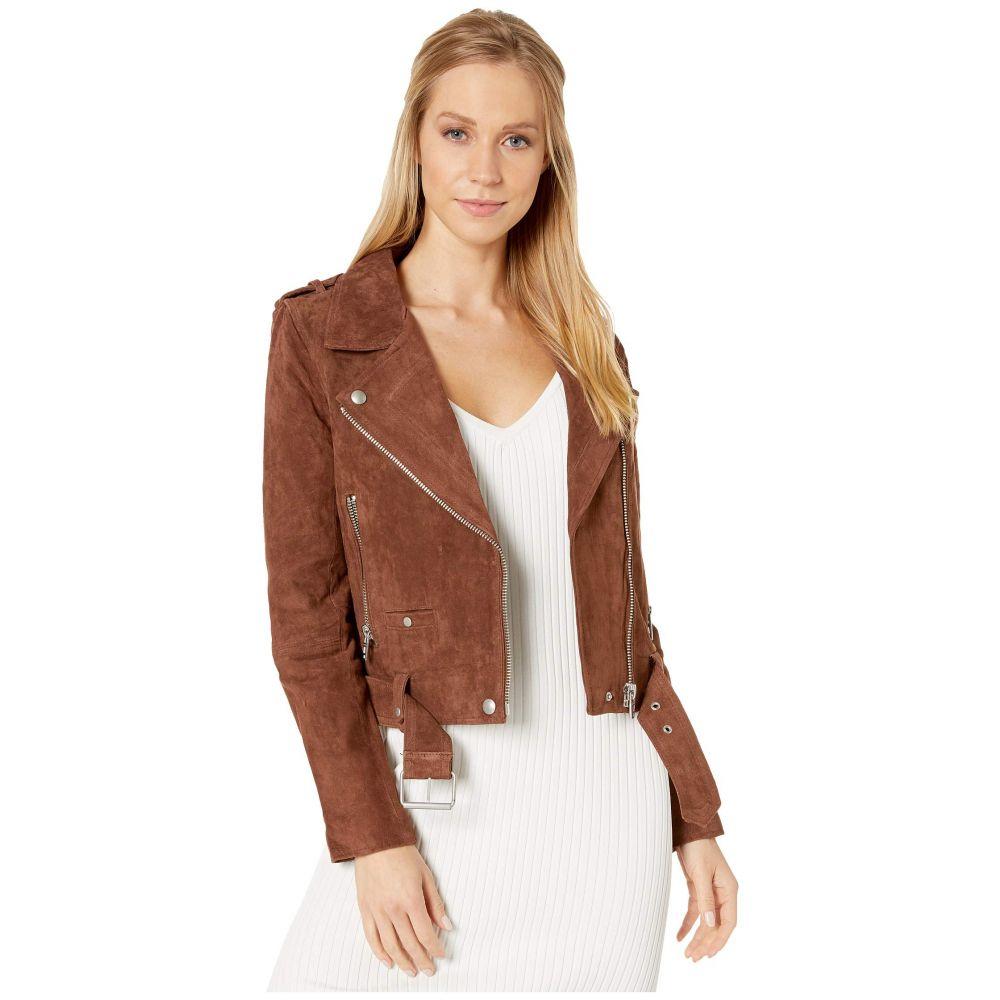 ブランクニューヨーク Blank NYC レディース アウター レザージャケット【Suede Moto Jacket】Chocolate Truffle