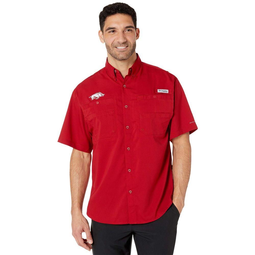コロンビア Columbia College メンズ トップス 半袖シャツ【Arkansas Razorbacks Collegiate Tamiami(TM) II Short Sleeve Shirt】Red Velvet