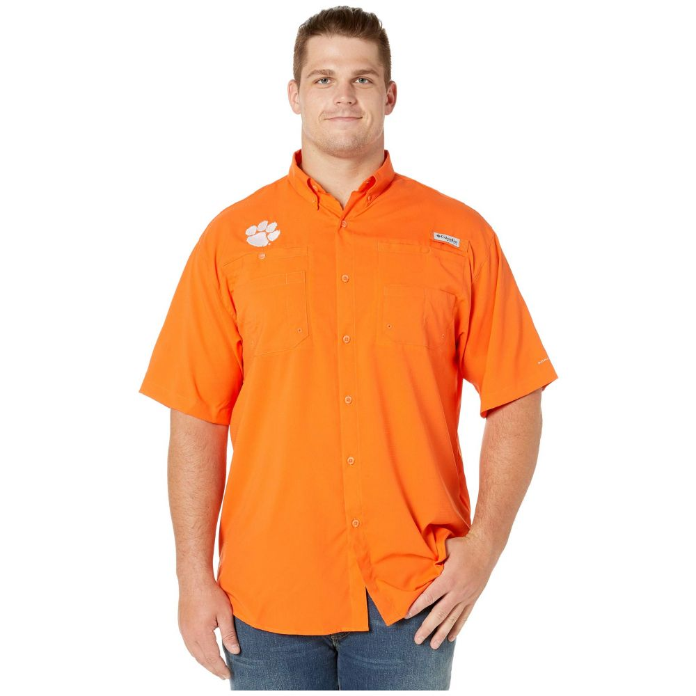 コロンビア Columbia College メンズ トップス 半袖シャツ【Big & Tall Clemson Tigers Tide Collegiate Tamiami(TM) II Short Sleeve Shirt】Spark Orange