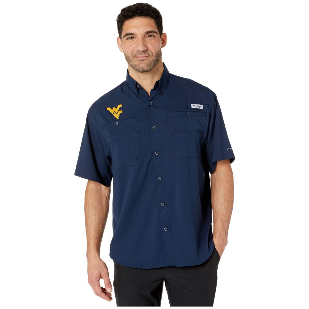 コロンビア Columbia College メンズ トップス 半袖シャツ【West Virginia Mountaineers Collegiate Tamiami(TM) II Short Sleeve Shirt】Collegiate Navy