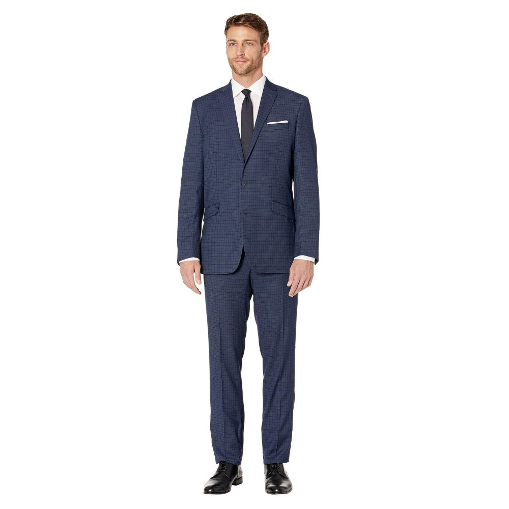 ケネス コール Kenneth Cole Reaction メンズ アウター スーツ・ジャケット【Plaid Slim Fit Stretch Performance Suit】Blue